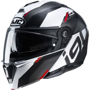 White/Black/Gray/Red i90 Aventa MC1 Helmet