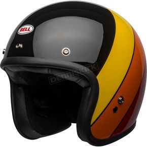 Black/Yellow/Orange/Red Custom 500 Riff Helmet