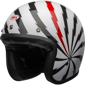 White/Black/Red Custom 500 SE Vertigo Helmet - 7123842