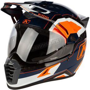 Striking Orange Krios Pro Rally Helmet