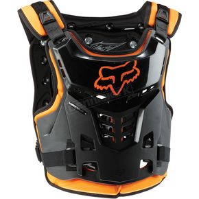 Fox Youth Black/Orange Proframe LC Roost Deflector - 06120-009-OS