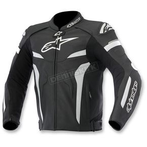 Alpinestars Black/White Celer Leather Jacket - 3105015-12-52