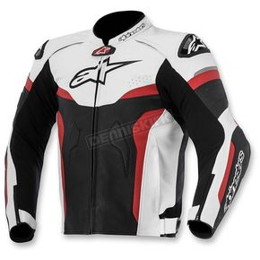 Alpinestars Black/White/Red Celer Leather Jacket - 3105015-123-54