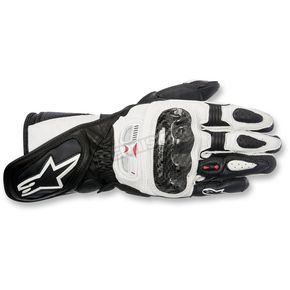Alpinestars Women's Black/White Stella SP-1 Leather Gloves - 3518115-12-L