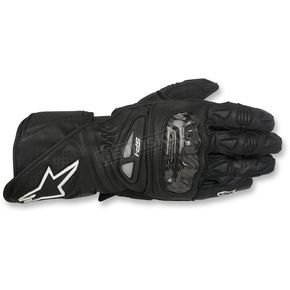 Alpinestars Black/White SP-1 Leather Gloves - 3558115-10-2X