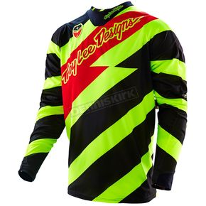 Troy Lee Designs Fluorescent Yellow/Black Caution SE Jersey - 303014522