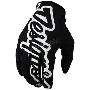 Troy Lee Designs Black/White Pro Gloves - 401003202