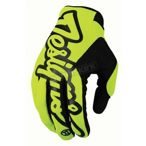 Troy Lee Designs Fluorescent Yellow/Black Pro Gloves - 401003506