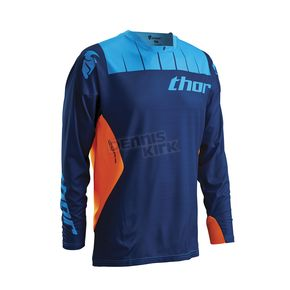 Thor Navy/Flo orange Core Contro Jersey - 2910-3438