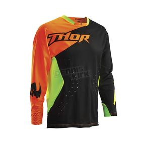 Thor Black/Fluorescent Core Air Divide Jersey - 2910-3482