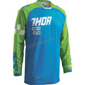 Thor Blue/Green Phase Strands Jersey - 2910-3551