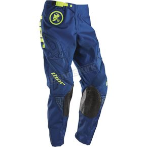 Thor Youth Navy/Lime Phase Gasket Pants - 2903-1321