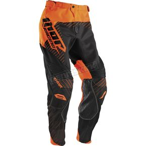 Thor Black/Flo Orange Core Hux Pants - 2901-5200