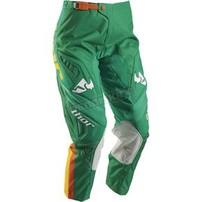 Thor Women's Green/Yellow Phase Bonnie Pants - 2902-0164