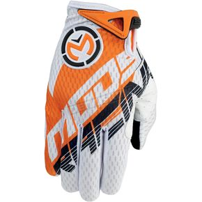Moose Orange/White SX1 Gloves - 3330-3329