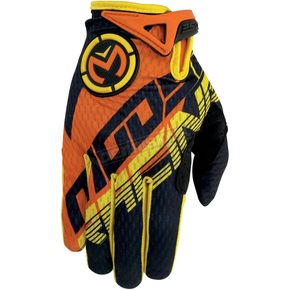Moose Youth Orange/Yellow SX1 Gloves - 3332-0979