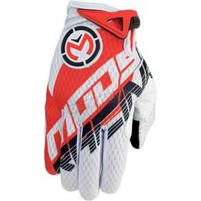 Moose Red/White SX1 Gloves - 3330-3339