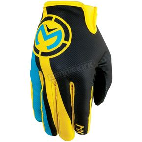 Moose Cyan/Yellow MX2 Gloves - 3330-3371