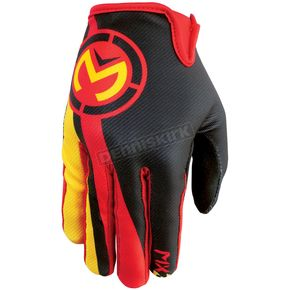 Moose Yellow/Red MX2 Gloves - 3330-3401