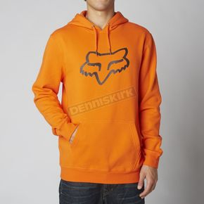 Fox Orange Legacy Fox Head Hoody - 14625-009-L