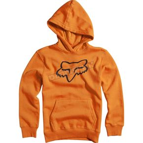 Fox Youth Orange Legacy Hoody - 15593-009-YM