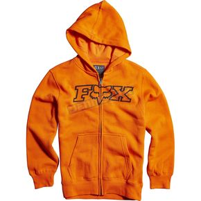 Fox Youth Orange Legacy Zip Hoody - 15996-009-YS