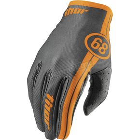 Thor Youth Course Charcoal Void Gloves - 3332-1007