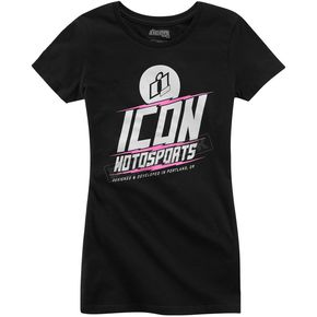 Icon Women's Black Charged T-Shirt - 3031-2499