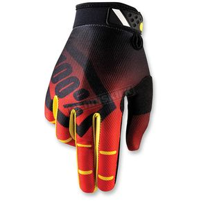 100% Red Ridefit Corpo Gloves - 10001-003-13