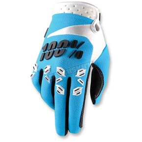 100% Blue Airmatic Gloves - 10004-002-12