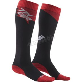 Thor Charcoal/Red MX Cool Socks - 3431-0277