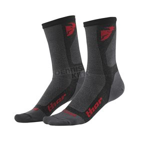 Thor Charcoal/Red Dual Sport Cool Socks - 3431-0286