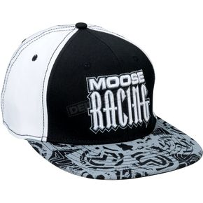 Moose Black/White Arcane Snapback Hat - 2501-2243