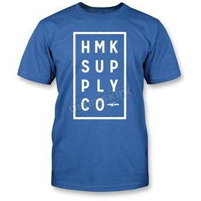 HMK Blue Boxed T-Shirt - HM2SSTBOXBLL