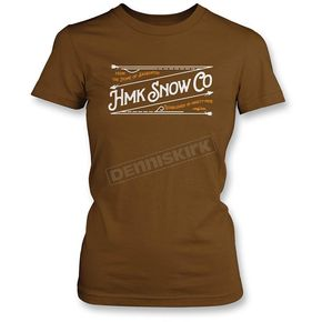 HMK Women's Brown Stitch T-Shirt - HM2SSTSTIWBR