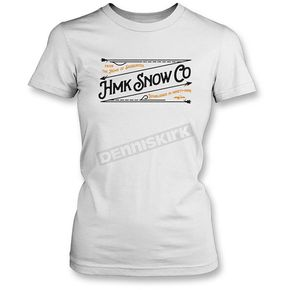 HMK Women's White Stitch T-Shirt - HM2SSTSTIWWM