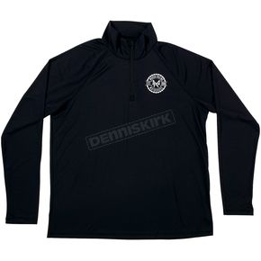 Moose Black Insignia Quarter-Zip Pullover - 3040-2078