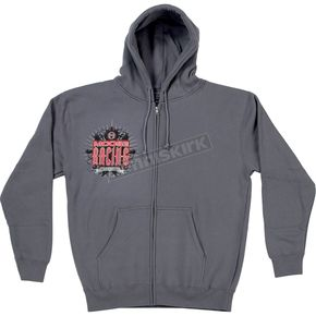 Moose Gray Arcane Zip Hoody - 3050-3124