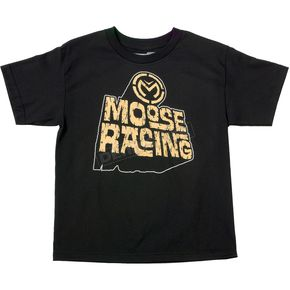 Moose Youth Black Escarpment T-Shirt - 3032-2165