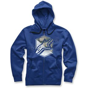 Alpinestars Blue Disruption Zip Up Hoody - 10355300479M
