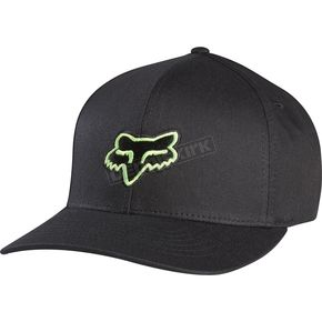 Fox Youth Black/Green Legacy Flexfit Hat - 58231-151-OS