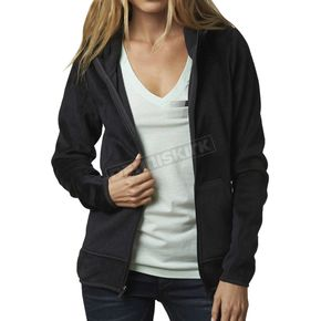 Fox Women's Heather Black Sleet Lush Zip Hoody - 15419-243-XS