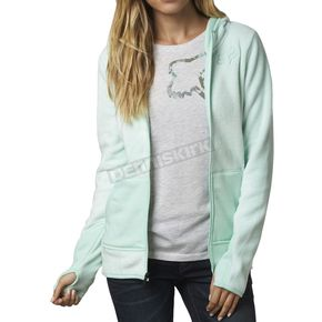 Fox Women's Pale Green Sleet Lush Zip Hoody - 15419-275-S