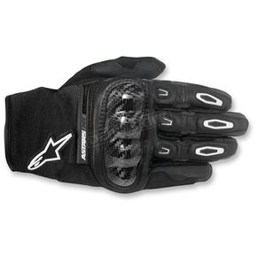 Alpinestars Black Megawatt Hard Knuckle Gloves - 3565016-10-XL
