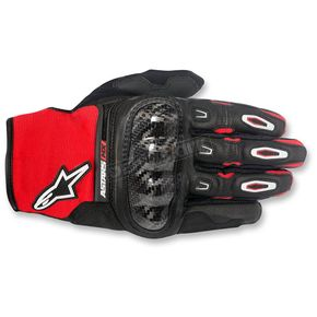 Alpinestars Black/Red/White Megawatt Hard Knuckle Gloves - 3565016-132-2X