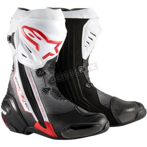 Alpinestars Black/Red/White Supertech R Boots - 2220015-1322-46