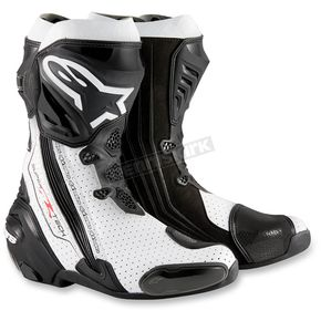 Alpinestars Black/White Supertech R Boots - 2220015-122-44