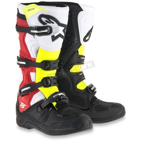 Alpinestars Red/Black/Yellow Tech 5 Boots - 2015015-1235-10