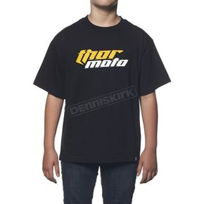 Thor Youth Black Total Moto T-Shirt - 3032-2197
