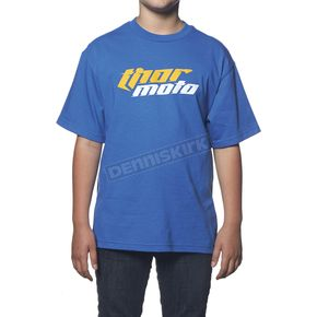 Thor Youth Blue Total Moto T-Shirt - 3032-2202